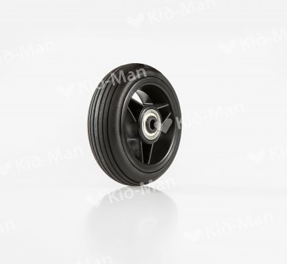 FRONT CASTER PU BLACK, SIZE 100X30 MM