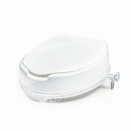 RAISED TOILET SEAT WITH LID, HEIGHT 10 cm