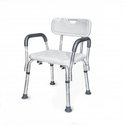 SHOWER CHAIR WITH REMOVABLE ARMRESTS