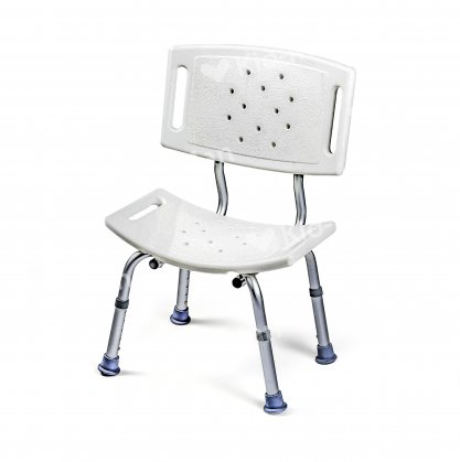 SHOWER CHAIR WITH WIDE BACKREST
